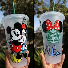Your place to buy and sell all things handmade Copo Starbucks, Starbucks Cup Art, Disney Starbucks, Custom Starbucks Cup, Starbucks Logo, Starbucks Tumbler, Starbucks Venti, Minnie Mouse Cricut Ideas, Mickey Mouse