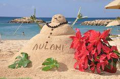 Christmas on the beach at Aulani on Oahu, Hawaii