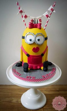 Betty the Minion Cake - Cake by Little Button Bakery