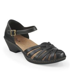 bc31001a81ee Clarks Black Wendy Land Leather Sandal