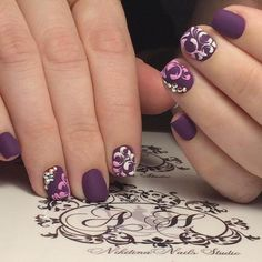 Beautiful nails Ideas of violet nails Lilac nails Monogram nails Short nails 2020 Smart nails Summer bright nail design Vacation nails Funky Nail Art, Funky Nails, Cool Nail Art, Bright Nail Designs, Best Nail Art Designs, Monogram Nails, Smart Nails, Violet Nails, Romantic Nails