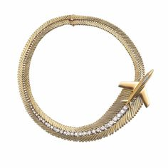 Mystere IV necklace, Van Cleef & Arpels Collection, 1956 Platinum, yellow gold, diamonds Offered by French aircraft industrialist Marcel Dassault to Jacqueline Auriol the first woman in history to have broken the sound barrier