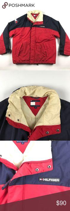Vintage Medium Tommy Hilfiger Spell Out Jacket Slightly puffy Tommy Hilfiger Jackets & Coats Puffers