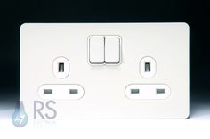 Schneider White Metal socket cover - concealed fixing - £14 on etc electrical