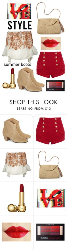 """City Shorts"" by boutiquebrowser ❤ liked on Polyvore featuring Étoile Isabel Marant, Pierre Balmain, Black Coral, Mar y Sol, Christian Dior, iCanvas and Maybelline"