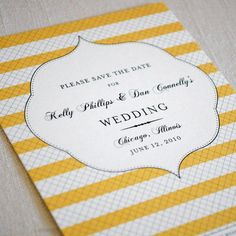 I like the invite... maybe in another color....Striped save the date and invitation