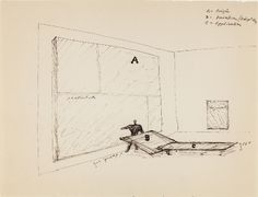 Frederick Kiesler, Studies: Art as Architecture of De Stijl, c. 1925, Ink on paper, 8 1/2 x 11 inches. Image Courtesy Jason McCoy Gallery.