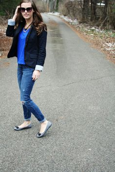 jillgg's good life (for less) | a style blog: my everyday style: blue and black!