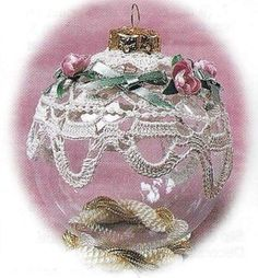 Victorian Christmas Ornaments | ... Pattern for Four Victorian Christmas Ornaments L K at All | eBay
