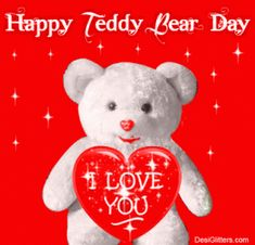 8 Teddy Day Best Gif Images With Heart Shape For GF | BF | Lovers
