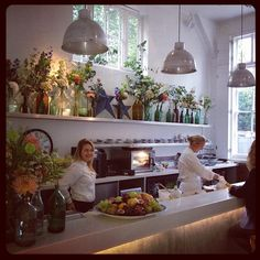 MiH Jeans London Office #Office #Interiors #Kitchen #Flowers
