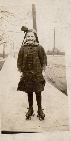 found roller skating girl by profkaren, via Flickr
