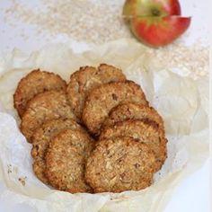 Havrekjeks med eple og kanel