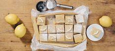 Sitruunaruudut | Makeat leivonnaiset | Reseptit – K-Ruoka Camembert Cheese, Dairy, Sweet, Desserts, Food, Candy, Tailgate Desserts, Deserts, Essen