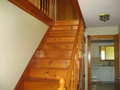 My House: Staircase Before & After — CAROL REED INTERIOR DESIGN Black Staircase, Staircase Runner, House Staircase, Staircase Railings, Stairways, Old Closet Doors, Staircase Makeover, Floor Layout, Under Stairs