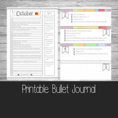 Printable Bullet Journal Pages  A5  A4  US by ScatteredPapers1