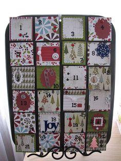 Old fashion diy muffin tin advent calendar