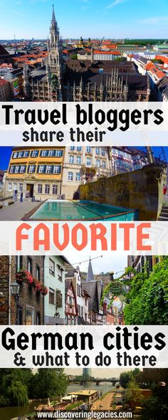 I asked 6 travel bloggers to share their favorite city in Germany and what to do there. Here are their awesome suggestions which include my personal Top 3 - Hamburg, Munich, and Berlin, but also some lesser known, fairy tale town suggestions!