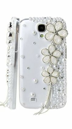 Amazon.com: Handmade Luxury Designer Bling 3D Colorful Special Clover Crystal Pearl Flower Cheery Case Cover For Huawei Smart Mobile Phones ...