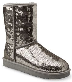 Sparkly Boots | Ugg Boots Womens Classic Short Black Sparkle Sequin from Landau Store