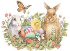Пасхальный кролик и другие символы Пасхи.