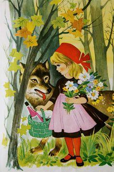 Little Red Riding Hood by Felicitas Kuhn Alphonse Mucha, Fairy Tale Crafts, Charles Perrault, Art Folder, Red Hood, Children's Book Illustration, Red Riding Hood, Little Red, Illustrators