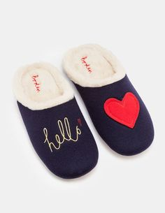 fae4c57fceb1b Make staying in the new going out with these ultra-cosy slippers.  Embroidery and