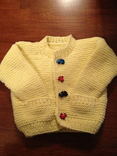 Ravelry: Simple Style Baby Cardigan and Hat pattern by Lion Brand Yarn