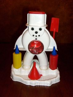 Frosty the snow cone maker-from the 60s ...my cousins Steve and Mike had one and I remember it so well