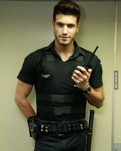 I was bad boy last friday night🙋 . . . . #man #men #hot #hottie #sexy #handsome #guy #guys #haf #photo #like #comment . . . . PS this photo is not original content  Photo from: Pinterest . . . . #police #offecier #policeman #outfit #hairstyle #muscles #armsmuscle #muscular #model