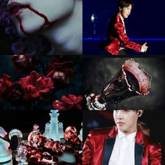 BTS J-Hope / Hoseok  vampire / red / dark aesthetic
