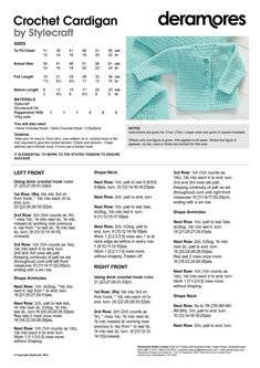 Stylecraft crochet cardigan Stylecraft crochet cardigan Pretty pattern for a babies cardigan in crochet Diy Crochet Cardigan, Baby Cardigan Knitting Pattern Free, Baby Boy Knitting Patterns, Crochet Baby Sweaters, Baby Sweater Patterns, Crochet Cardigan Pattern, Baby Hats Knitting, Crochet Baby Clothes, Baby Patterns