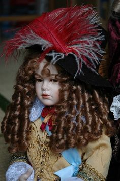 Louis XIV doll//May 14, 1643. Louis XIV becomes King of France at age four upon the death of his father Louis XIII.