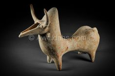 An Amlash terracotta hump-backed bull rython (item detailed views) Neck Hump, Iran, Architecture Company, Earthenware Clay, Animal Design, Ancient Art, Archaeology, Terracotta, Lion Sculpture