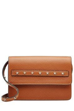 R.E.D. Valentino - Leather Shoulder Bag with Stud Embellishment | STYLEBOP