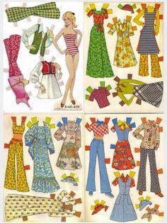 Who remembers paper dolls?