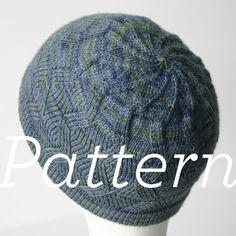 Knit Hat Pattern // ZigZag Swirl Hat  by shopknitsandprints, $2.50