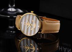 ♥ Armbanduhr Anker  ♥ Erhältlich in dem Farbe: Weiß, Schwarz und Beige  ♥ Bitte deine Farbwünsche beim Bestellvorgang im Mitteilungsfeld mitteilen!  ♥ 5-fach Verstellbar: 16 - 22 cm  ♥...
