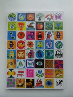 great idea with an old memory game. Vintage art for kids ;)