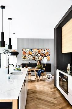H-kitchen-black-cabnitery-timber-floors