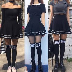 Korean Fashion – How to Dress up Korean Style – Designer Fashion Tips Edgy Outfits, Mode Outfits, Grunge Outfits, Skirt Outfits, Fashion Outfits, Knee Socks Outfits, Knee High Socks Outfit, Dress Socks, Skirt Fashion