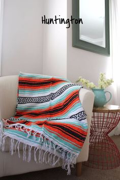 15% of all Baja Mexican Blankets purchases will go to Latin America Missions. Our Baja Mexican Blankets are super soft and warm. They're perfect for the beach, camping, or as a home accent! *5 ft x7 f