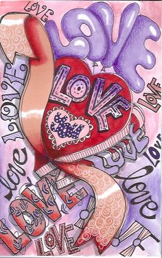 Hearts of Love Heart Art, Love Heart, Peace And Love, Heart Pictures, Love My Husband, Love Wallpaper, Love Images, Illustrations, Art Journal Inspiration