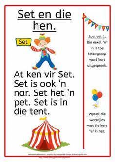 'n Afrikaanse Lees- en skryfprogram vir tuisskolers of onderwysers. 'n Afrikaanse Lees- en skryfprogram vir graad 1 tot graad 3 Free Preschool, Preschool Worksheets, Classroom Activities, Afrikaans Language, Grade 1 Reading, Classroom Expectations, Reading Worksheets, Teaching Aids, Home Schooling
