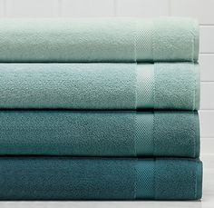 Sea Color Towels  I want these colors in my kitchen! Top three.