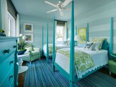 Traditional Kids Bedroom with Ethan Allen Barrett Poster Bed, Butterfly Pillow, Ceiling fan, Hardwood floors