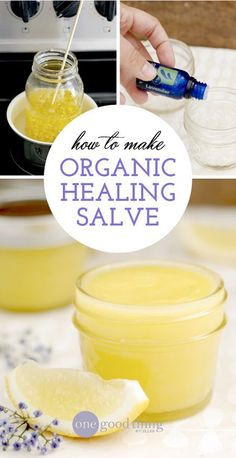 I have been making this all-purpose healing salve for years and it has become a staple in my medicine cabinet. It's made up of simple ingredients like coconut oil, olive oil, pure essential oils from Spark Naturals, and a splash of vitamin E to create an organic salve with Neosporin-like properties. A salve that will protect, disinfect AND moisturize! Believe me, this is one workhorse of a salve that you'll reach for over and over again. #naturalskincare #skincareproducts #Australianskincare…