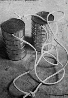 El telefono con latas