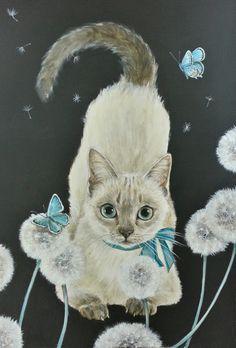 おちょぴ | タンポポと猫 | thisisgallery | 好きなアーティストが見つかるアート購入・販売サイト