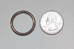 "5/8"" 16mm nickel Plated Jump Ring"
